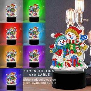 Snowman Enjoying - Diamond Light