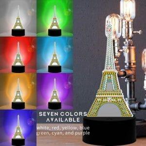 Eiffel Tower - Diamond Painting Lamp