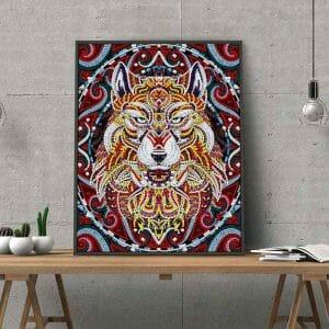 Luminous Wolf Diamond Painting