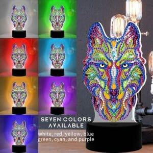 Wolf - Diamond Painting Light