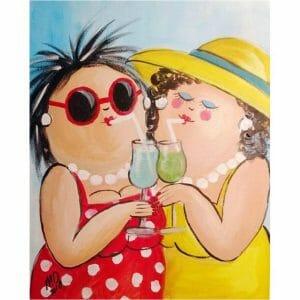 Fat Ladies Drinking Juice