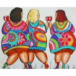 Fat Ladies Enjoy Drinking