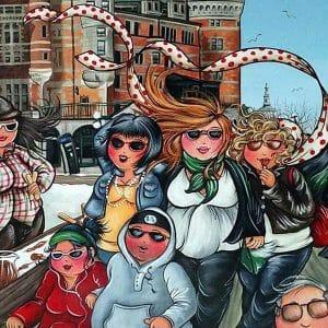 Enjoying the city - Fat Ladies