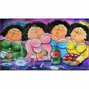 Fat Ladies Enjoying a Party