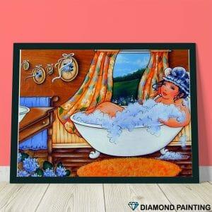 Fat lady in the bathtub