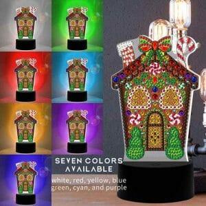House - Diamond Painting Lamp