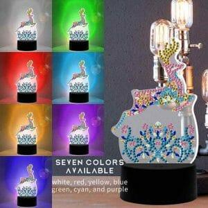 Reindeer - Diamond Painting Lamp