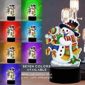 The Snowman - Diamond Painting Lamp